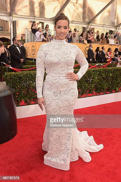 Actress Dascha Polanco attends TNT's 21st Annual Screen Actors Guild Awards at The Shrine Auditorium on January 25 2015 in Los Angeles California...