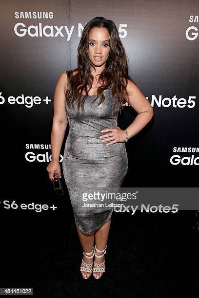 Actress Dascha Polanco celebrates the new Samsung Galaxy S6 edge and Galaxy Note5 at Launch Event on August 18 2015 in Los Angeles California