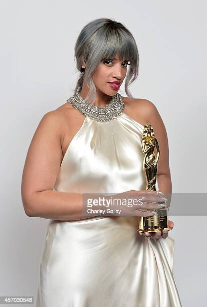 Actress Dascha Polanco recipient of the Special Achievement In Television award poses for a portrait during the 2014 NCLR ALMA Awards at the Pasadena...