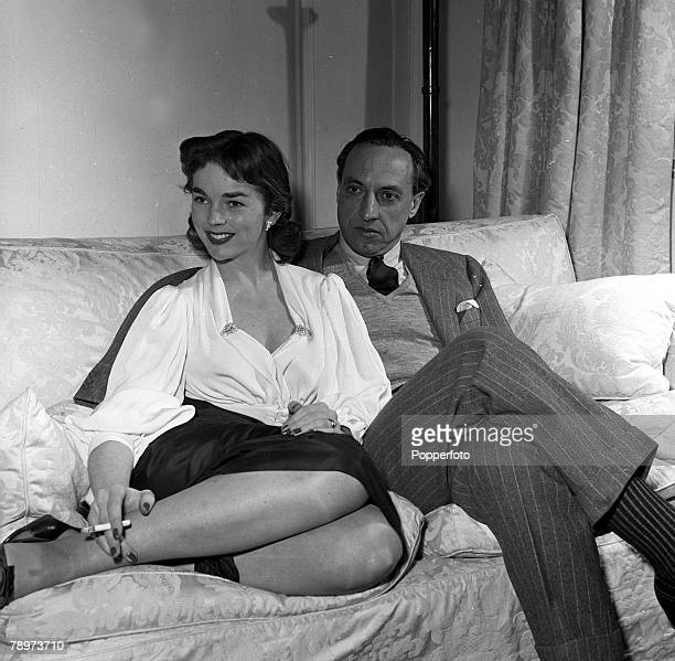 Actress Dawn Addams with her husband to be Italian Nobleman Prince Vittorio Massimo 1954