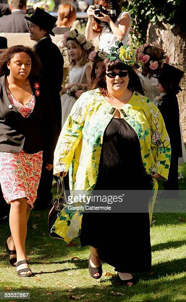 Actress Dawn French attends the wedding of musician Jools Holland and Christabel McEwen at St James's Church Cooling on August 30 2005 in Cooling...