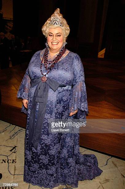 Actress Dawn French poses The Royal Opera La Fille Du Regiment press night at the Royal Opera House on January 11 2007 in London England