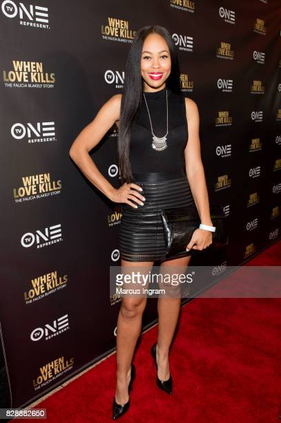 Actress Dawn Halfkenny attends the 'When Love Kills The Falicia Blakely Story' movie screening at Regal Atlantic Station on August 9 2017 in Atlanta...