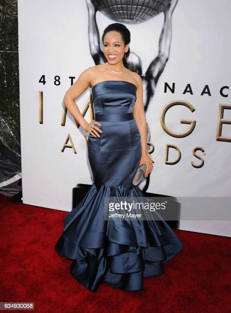 Actress Dawn LyenGardner arrives at the 48th NAACP Image Awards at Pasadena Civic Auditorium on February 11 2017 in Pasadena California