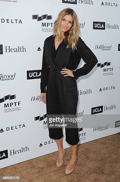 Actress Dawn Olivieri arrives at the MPTF Reel Stories, Real Lives Event at Milk Studios on April 5, 2014 in Los Angeles, California.
