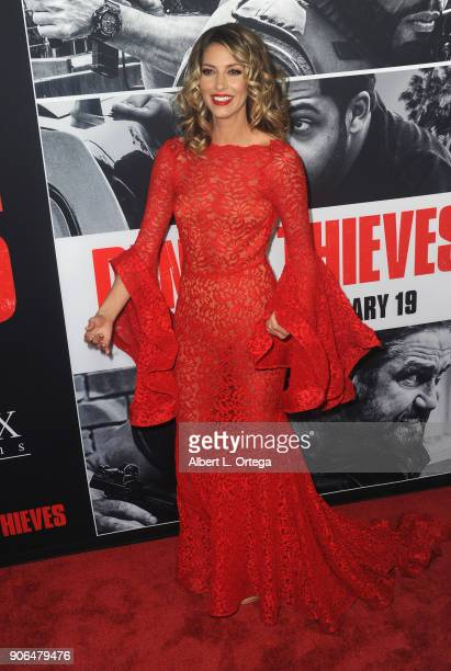 Actress Dawn Olivieri arrives for the Premiere Of STX Films' 'Den Of Thieves' held at Regal LA Live Stadium 14 on January 17 2018 in Los Angeles...