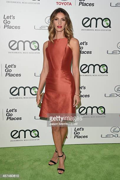 Actress Dawn Olivieri attends the 24th Annual Environmental Media Awards presented by Toyota and Lexus at Warner Bros Studio on October 18 2014 in...