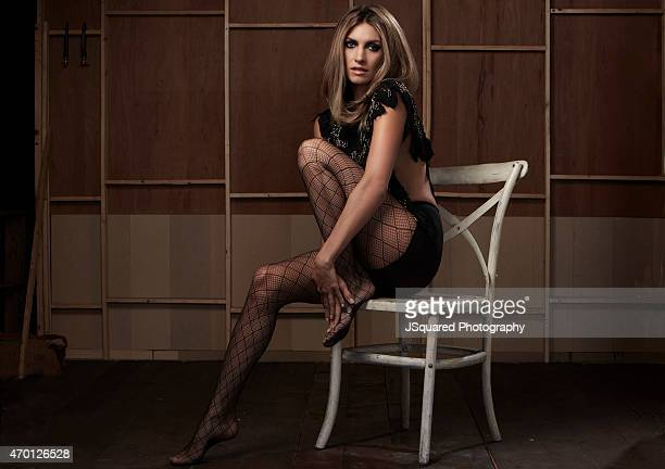 Actress Dawn Olivieri is photographed for Glamoholic on March 21 2014 in Los Angeles California