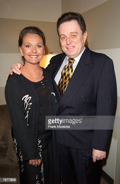 Actress Dawn Wells who played Mary Ann on Gilligans Island poses with actor Jerry Mathers who played Beaver on Leave It To Beaver backstage at the...