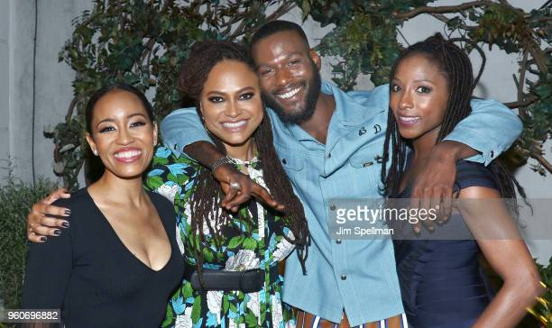 Actress DawnLyen Gardner directorAva DuVernay actors Kofi Siriboe and Rutina Wesley attend the party for Ava DuVernay and Queen Sugar hosted by OWN...