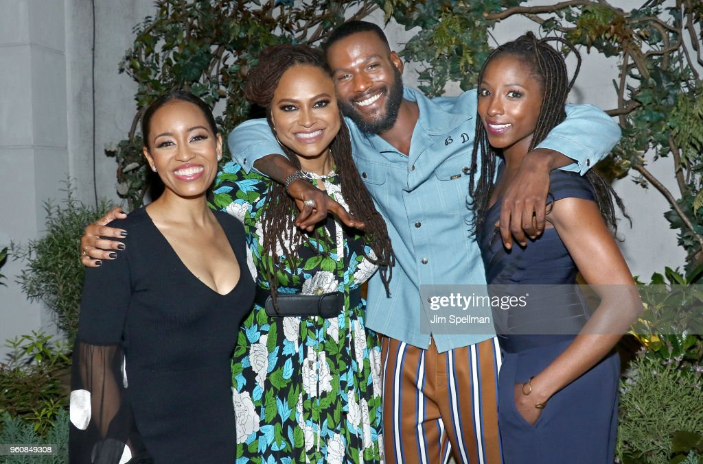 Actress Dawn-Lyen Gardner, directorAva DuVernay, actors Kofi Siriboe and Rutina Wesley attend the party for Ava DuVernay and 'Queen Sugar' hosted by OWN at Laduree Soho on May 20, 2018 in New York City.