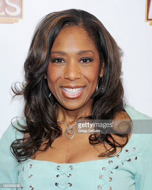 Actress Dawnn Lewis arrives at the Los Angeles opening night of Mike Tyson Undisputed Truth at the Pantages Theatre on March 8 2013 in Hollywood...