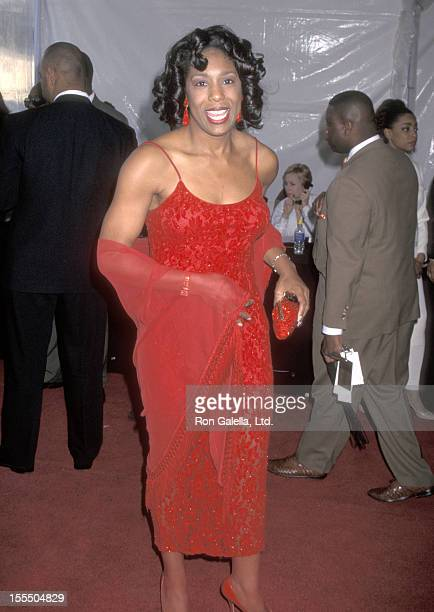 Actress Dawnn Lewis attends the 10th Annual Soul Train Music Awards on March 29 1996 at Shrine Auditorium in Los Angeles California