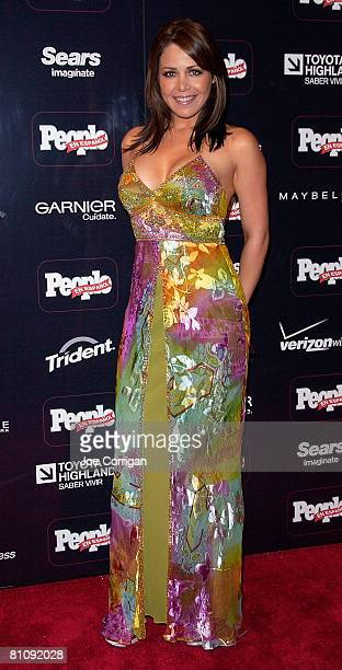 Actress Dayana Garroz arrives at People en Espanol 50 MOST BEAUTIFUL issue a special performance by one of 2008's mas bellos Daddy Yankee at Mansion...