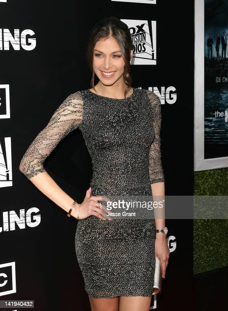 Actress Dayana Mendoza arrives at AMC's 'The Killing' Season 2 Los Angeles Premiere at ArcLight Cinemas on March 26 2012 in Hollywood California