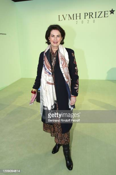 Actress Dayle Haddon attends the LVMH Prize 2020 - Designers Presentation on February 27, 2020 in Paris, France.