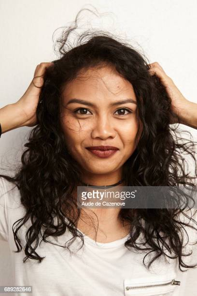 Actress Dea Panendra is photographed for Self Assignment on MAY 25 2017 in Cannes France