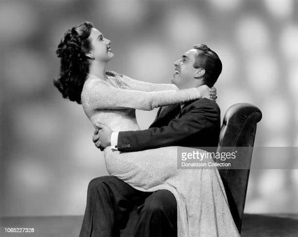 Actress Deanna Durbin and Edmund O'Brien in a scene from the movie The Amazing Mrs Holliday