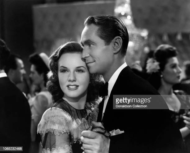 Actress Deanna Durbin and Franchot Tone in a scene from the movie His Butler's Sister