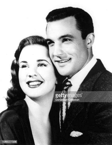 Actress Deanna Durbin and Gene Kelly in a scene from the movie Christmas Holiday