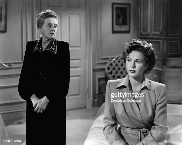 Actress Deanna Durbin and Margaret Wycherly in a scene from the movie Something in the Wind