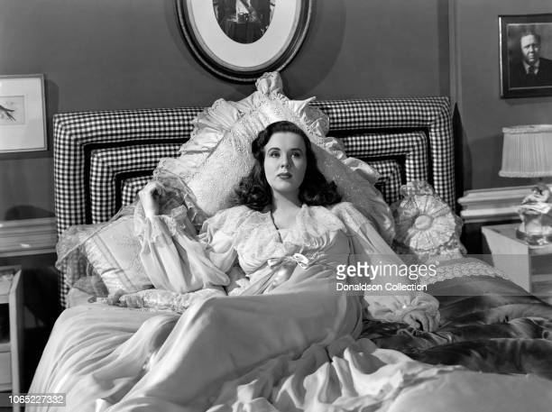 Actress Deanna Durbin in a scene from the movie Because of Him