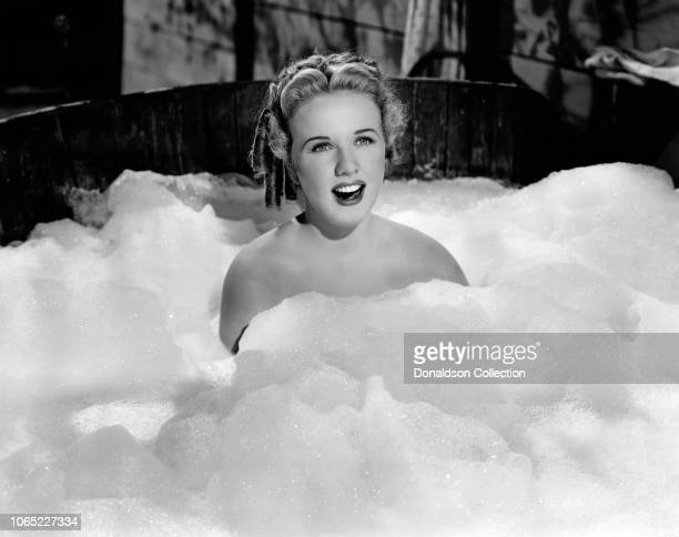Actress Deanna Durbin in a scene from the movie Can't Help Singing