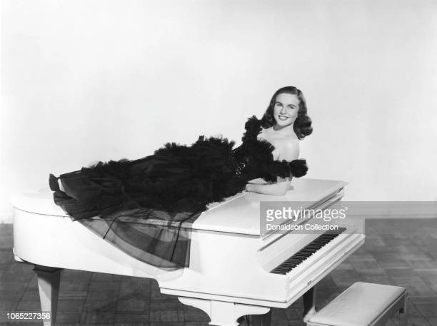 Actress Deanna Durbin in a scene from the movie I'll Be Yours