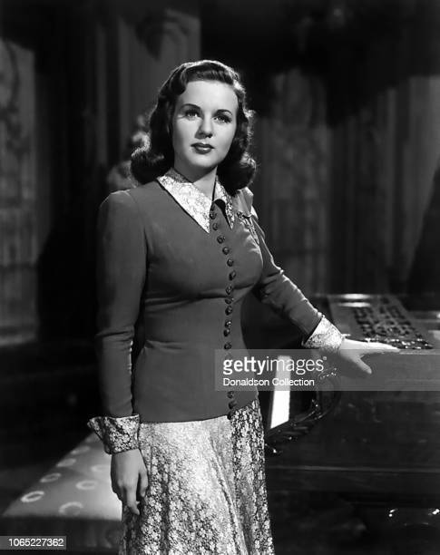 Actress Deanna Durbin in a scene from the movie It Started with Eve