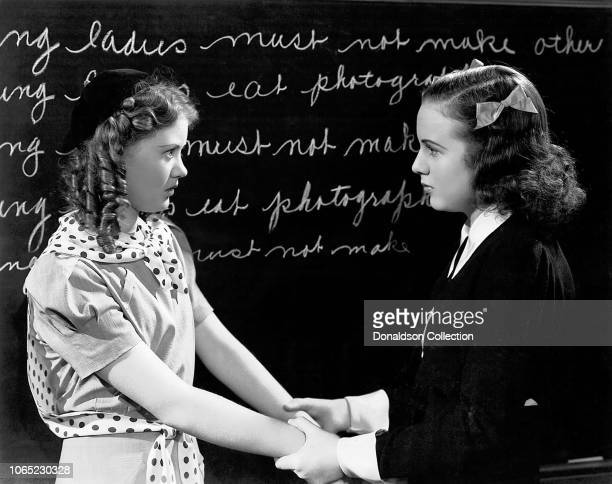 Actress Deanna Durbin in a scene from the movie Mad About Music