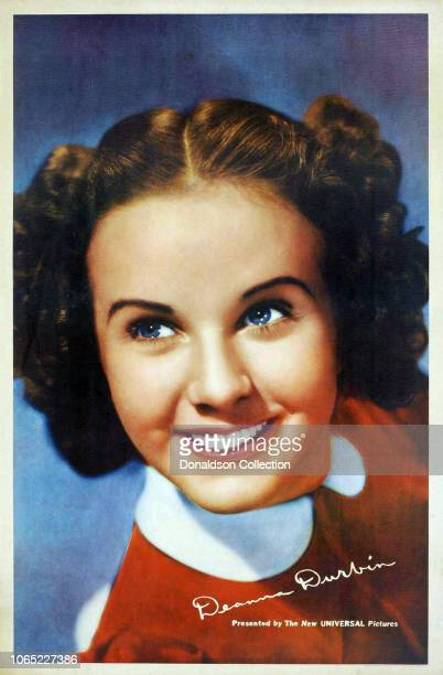 Actress Deanna Durbin in a scene from the movie One Hundred Men and a Girl