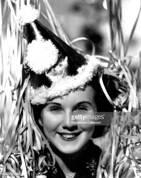 Actress Deanna Durbin in a scene from the movie Three Smart Girls