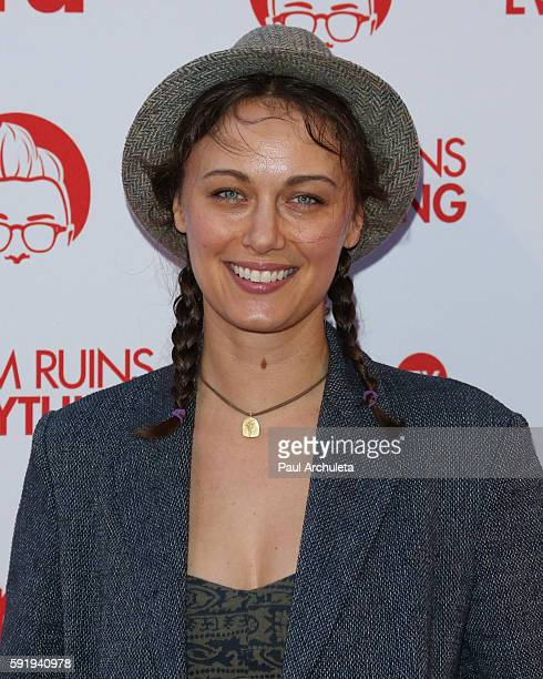 Actress Deanna Russo attends the screening and reception for truTV's 'Adam Ruins Everything' at The Library at The Redbury on August 18 2016 in...