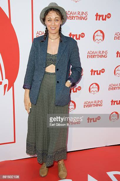 Actress Deanna Russo attends truTV's 'Adam Ruins Everything' Premiere Screening at The Library at The Redbury on August 18 2016 in Hollywood...