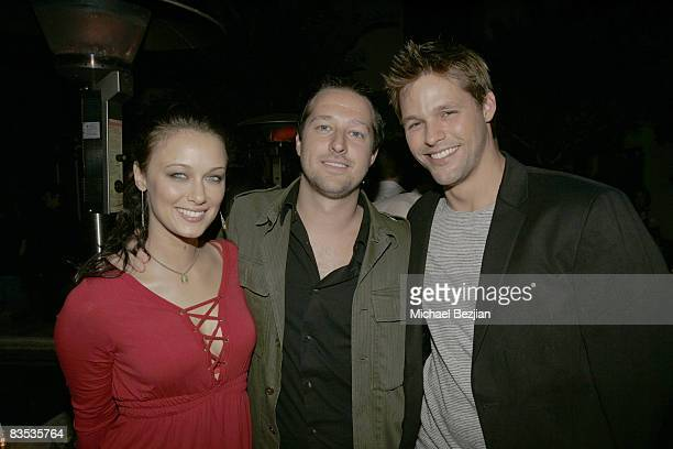 Actress Deanna Russo, writer and producer Dave Andron and actor Justin Bruening attend The Knight Rider Premiere Event on September 20, 2008 in Los...