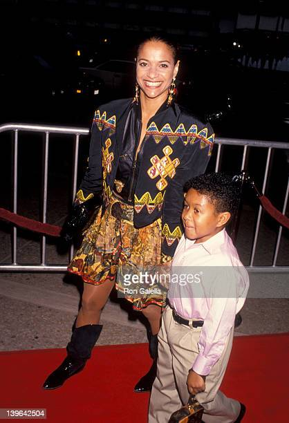 Actress Debbie Allen and actor Emmanuel Lewis attenidng the premiere of Boyz In Da Hood on July 2 1991 at the Cineplex Odeon Cinema in Century City...