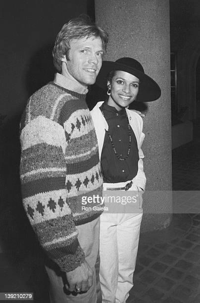 Actress Debbie Allen and actor Morgan Stevens attending Grand Opening of Santopietro's Restaurant on January 21 1983 in Calabasas California