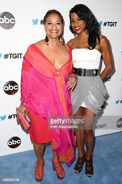 Actress Debbie Allen and daughter dancer Vivian Nixon attend the TGIT Premiere event at Palihouse on September 20 2014 in West Hollywood California