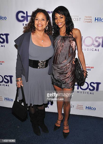 Actress Debbie Allen and her daughter actress Vivian Nixon attends Ghost The Musical Opening Night at LuntFontanne Theatre on April 23 2012 in New...