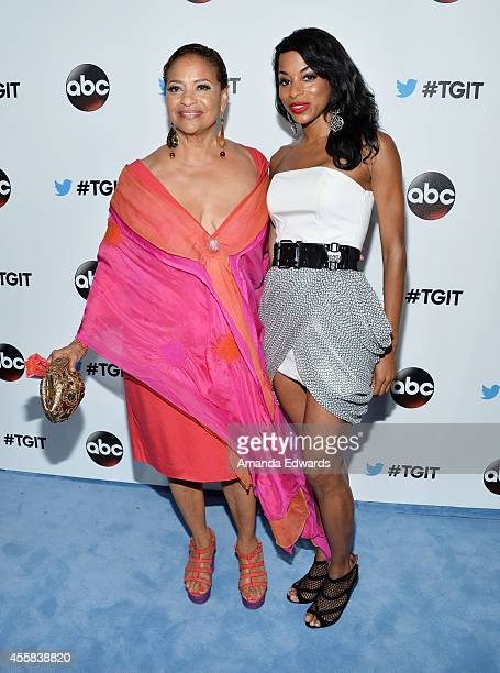 Actress Debbie Allen and her daughter Vivian Nixon arrive at the #TGIT Premiere Event hosted by Twitter at Palihouse Holloway on September 20 2014 in...