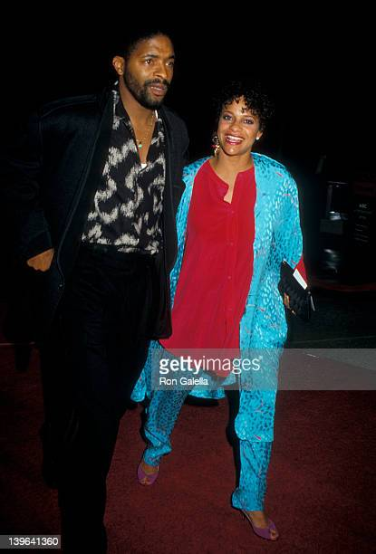 Actress Debbie Allen and husband Norman Nixon attending the premiere of Ishtar on May 13 1987 at the Plitt Theater in Century City California