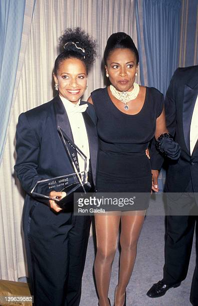 Actress Debbie Allen and Jennifer Lewis attending First Annual Minority Motion Picture Awards on September 10 1993 at the Wiltern Theater in Los...