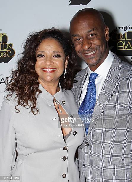 Actress Debbie Allen and President of Music Programming and Specials for BET Stephen G Hill attend the Soul Train Awards 2013 at the Orleans Arena on...