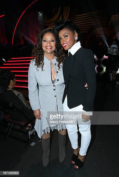 Actress Debbie Allen and singer Janelle Monae attend the Soul Train Awards 2013 at the Orleans Arena on November 8, 2013 in Las Vegas, Nevada.