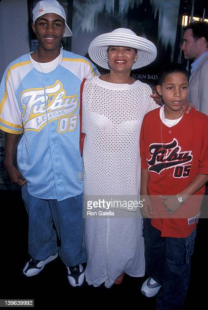 Actress Debbie Allen and son Norman Nixon Jr attending the screening of The Haunting on July 20 1999 at Mann Village Theater in Weswood California