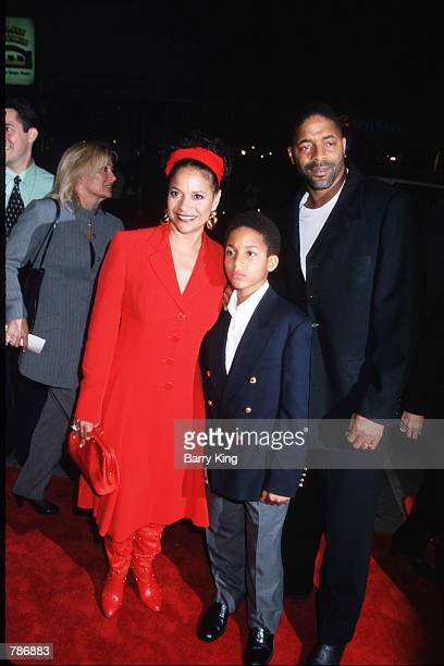 Actress Debbie Allen arrives at the premiere of Beloved with her son and husband Norman Nixon October 12 1998 in Los Angeles CA Allen is best known...