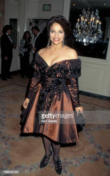 Actress Debbie Allen attending Sheba Humanitarian Awards Honoring Whoopi Goldberg on January 22 1995 at the Beverly Wilshire Hotel in Beverly Hills...