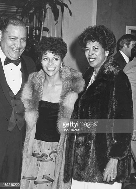 Actress Debbie Allen father Andrew Allen and mother Vivian Ayers Allen attending 40th Annual Golden Globe Awards on January 29 1983 at the Beverly...