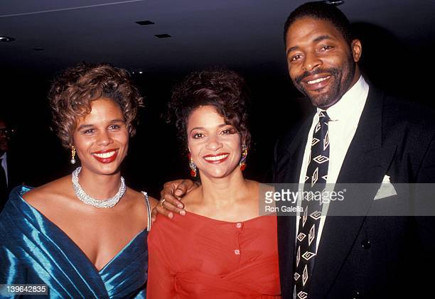 Actress Debbie Allen husband Norman Nixon and guest attending the party for 100th Episode of A Different World on October 14 1991 at the Armand...