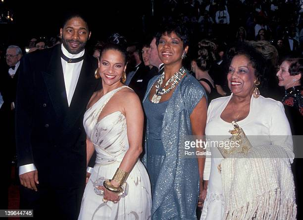 Actress Debbie Allen, husband Norman Nixon, Phylicia Rahad and mother Vivian Ayers Allen attending 65th Annual Academy Awards on March 29, 1993 at...